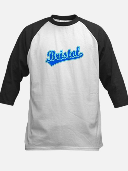 Retro Bristol (Blue) Kids Baseball Jersey