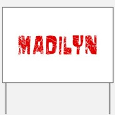 Madilyn Faded (Red) Yard Sign