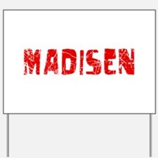 Madisen Faded (Red) Yard Sign
