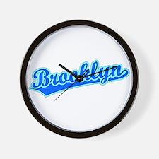 Retro Brooklyn (Blue) Wall Clock