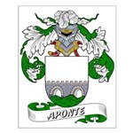 Aponte Family Crest Small Poster