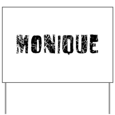 Monique Faded (Black) Yard Sign