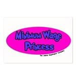 Minimum Wage Princess Postcards (Package of 8)