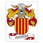 Aragon Family Crest Small Poster