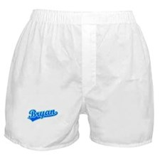 Retro Bryan (Blue) Boxer Shorts