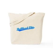Retro Bullhead City (Blue) Tote Bag