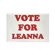 Vote for LEANNA Rectangle Magnet