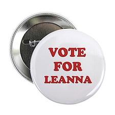 "Vote for LEANNA 2.25"" Button"