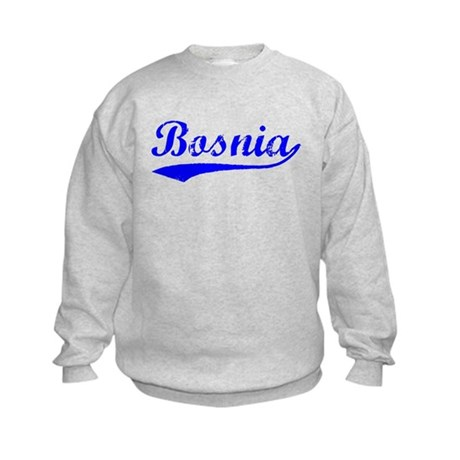 Vintage Bosnia (Blue) Kids Sweatshirt