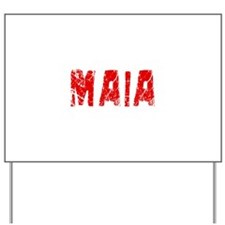 Maia Faded (Red) Yard Sign
