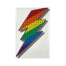 LIGHTNING RAINBOW PRIDE Rectangle Magnet