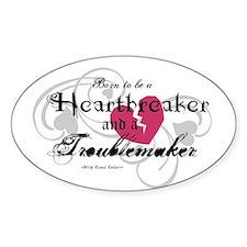 Heart Breaker & Troublemaker Oval Decal