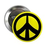 black on yellow peace sign 100 buttons