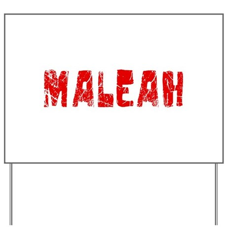 Maleah Faded (Red) Yard Sign
