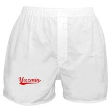 Vintage Yazmin (Red) Boxer Shorts