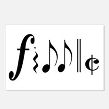Great NEW fiddle design! Postcards (Package of 8)