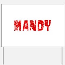 Mandy Faded (Red) Yard Sign
