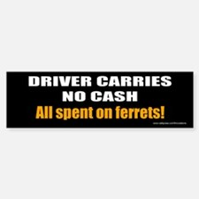 no cash bumper sticker