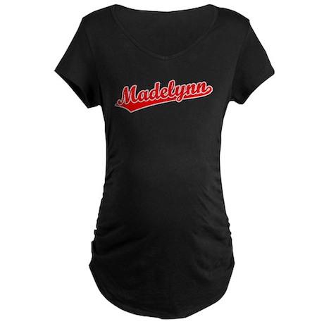 Retro Madelynn (Red) Maternity Dark T-Shirt
