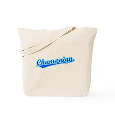 Retro Champaign (Blue) Tote Bag