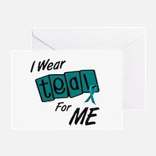 I Wear Teal 8.2 (ME) Greeting Card
