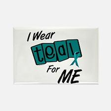 I Wear Teal 8.2 (ME) Rectangle Magnet
