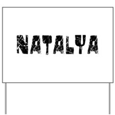 Natalya Faded (Black) Yard Sign