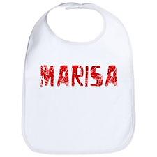 Marisa Faded (Red) Bib