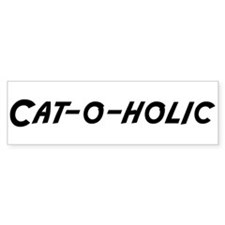 Cat-o-holic Bumper Car Sticker