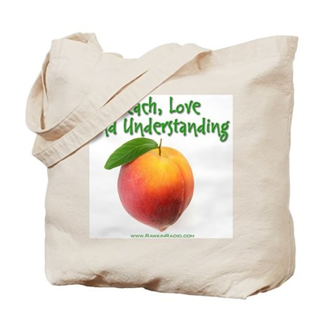 Peach, love and understanding Tote Bag