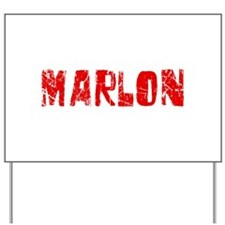 Marlon Faded (Red) Yard Sign