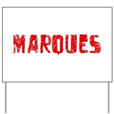 Marques Faded (Red) Yard Sign