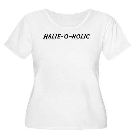 Halie-o-holic Women's Plus Size Scoop Neck T-Shirt