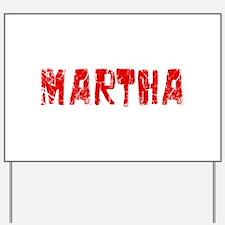 Martha Faded (Red) Yard Sign