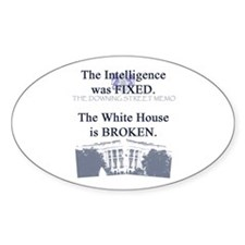 Downing Street Memo Oval Decal