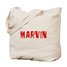 Marvin Faded (Red) Tote Bag