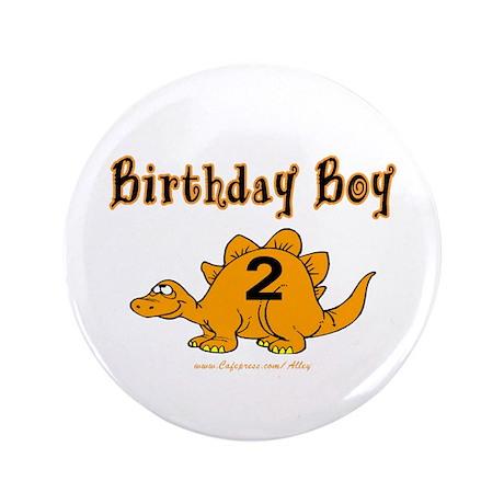 "Birthday Boy 2 Dinosaur 3.5"" Button"