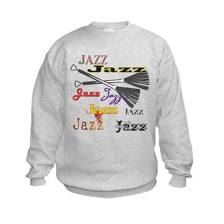Jazz Brushes Kids Sweatshirt