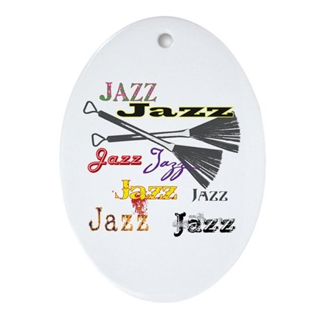 Jazz Brushes Oval Ornament