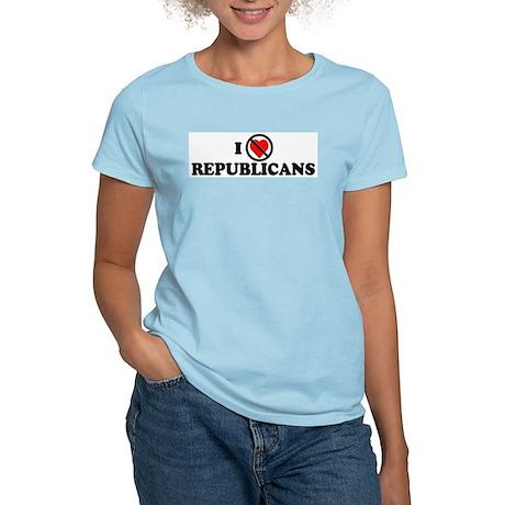 I Do NOT Love Republicans Women's Pink T-Shirt