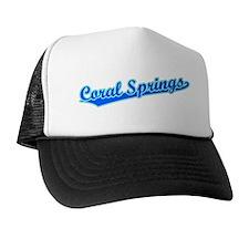 Retro Coral Springs (Blue) Trucker Hat