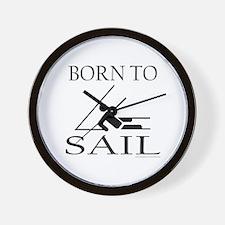 BORN TO SAIL Wall Clock