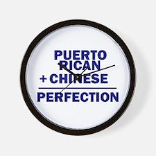 Puerto Rican + Chinese Wall Clock