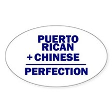Puerto Rican + Chinese Oval Decal
