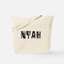 Nyah Faded (Black) Tote Bag