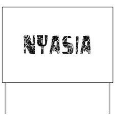 Nyasia Faded (Black) Yard Sign