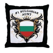 Number One Bulgarian Aunt Throw Pillow