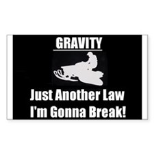 Gravity! Rectangle Decal