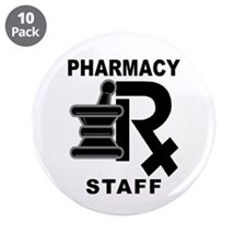 "Parmacy Staff 3.5"" Button (10 pack)"