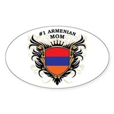 Number One Armenian Mom Oval Decal